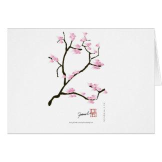 sakura bloesem met roze vogels, tony fernandes wenskaart