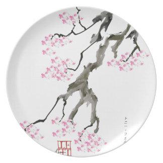 sakura met roze goudvis, tony fernandes melamine+bord