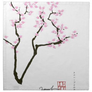 sakura met roze goudvis, tony fernandes servet