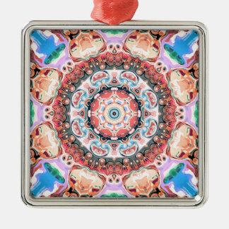 Saldo van de Vormen van de Pastelkleur Zilverkleurig Vierkant Ornament