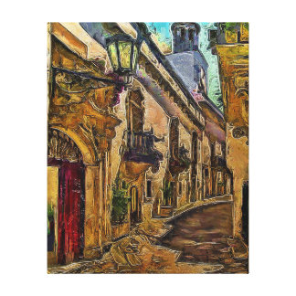 Salerno, Italië Stretched Canvas Print