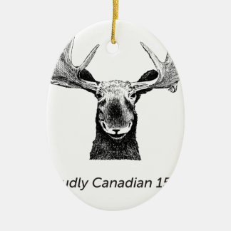 SalesBeacon - Bacon - Amerikaanse elanden - Zwarte Keramisch Ovaal Ornament