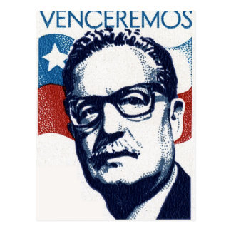 Salvador Allende - Venceremos Briefkaart