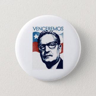 Salvador Allende - Venceremos Ronde Button 5,7 Cm