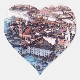 Salzburg in Art. Hart Sticker
