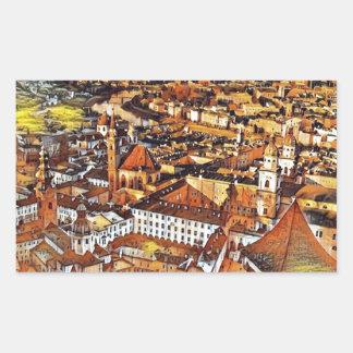 Salzburg in Art. Rechthoekige Sticker