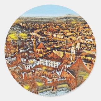 Salzburg in Art. Ronde Sticker