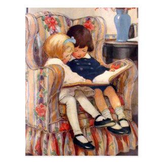 Samen het lezen briefkaart