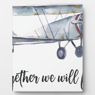 Samen zullen wij vliegen fotoplaat