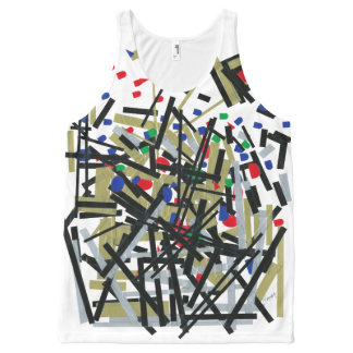Samenvatting in Band & Letterforms 1 All-Over-Print Tank Top