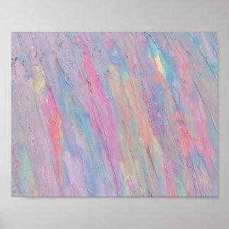 Samenvatting, Pastelkleur, Originele Regenboog, Poster