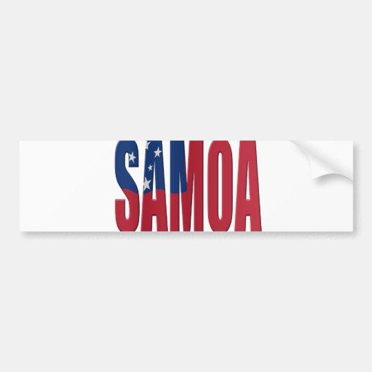 Samoa flag bumpersticker
