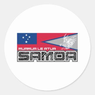 Samoa Muamua Le Atua - de Amerikaanse Samoa/Vlag Ronde Sticker