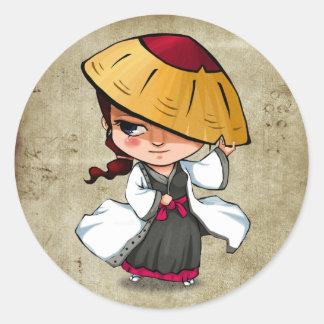 Samoeraien en Stickers Ninja - Murasaki