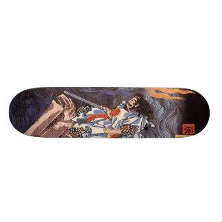 Samoeraien met het Skateboard van het Zwaard