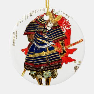 Samoeraien - Utagawa Kuniyoshi 歌川国芳 Rond Keramisch Ornament