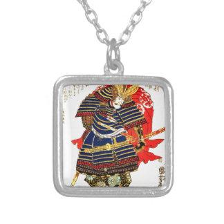 Samoeraien - Utagawa Kuniyoshi 歌川国芳 Zilver Vergulden Ketting