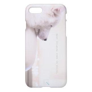 """Samoyed """"Vrienden komt in wit."""" door Qunamax iPhone 8/7 Hoesje"""