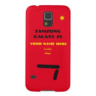 Samsung S5 past uw geval aan uw naam Galaxy S5 Hoesje
