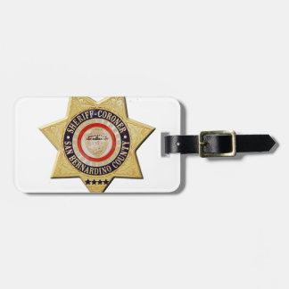 San Bernardino Sheriff-Coroner Kofferlabel