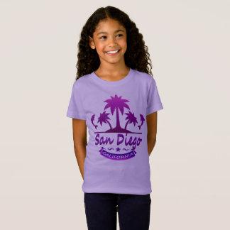 San Diego, de Dolfijnen van CA met Palmen T Shirt