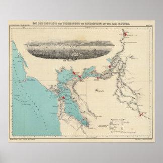 San Francisco aan Sacramento Poster