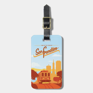 San Francisco, CA - de Stad door de Baai Kofferlabel