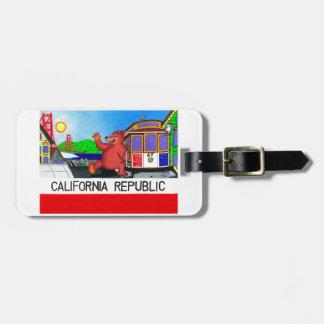 San Francisco Californië draagt Vlag 2 Bagagelabel