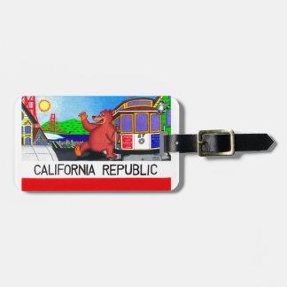 San Francisco Californië draagt Vlag Bagagelabel