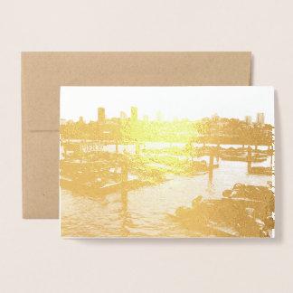 San Francisco en Pijler 39 de Horizon van de Stad Folie Kaarten