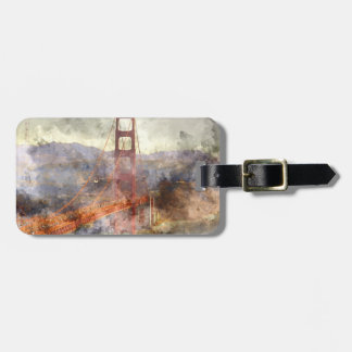 San Francisco Golden gate bridge Bagagelabel