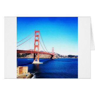 San Francisco Golden gate bridge Californië Kaart