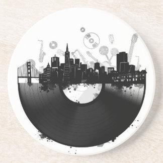 San Francisco het vinylwit van de stadshorizon Zandsteen Onderzetter
