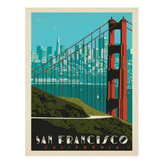 San Francisco | Horizon van Golden gate bridge Briefkaart