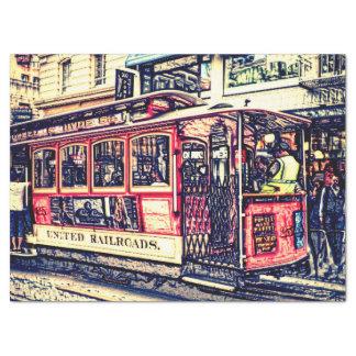 San Francisco, kabelwagen Tissuepapier