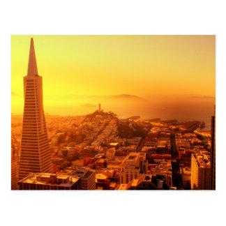 San Francisco van de binnenstad, CA Briefkaart