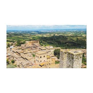 San Gimignano, Italië Stretched Canvas Afdrukken