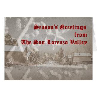 San Lorenzo Valley Holiday Card Kaart