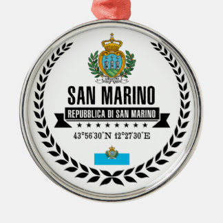 San Marino Zilverkleurig Rond Ornament