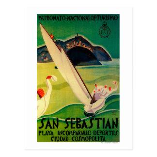 San Sebastian Vintage PosterEurope Briefkaart