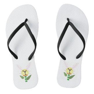 Sandals van de Vrouwen van de Bloem van het Teenslippers