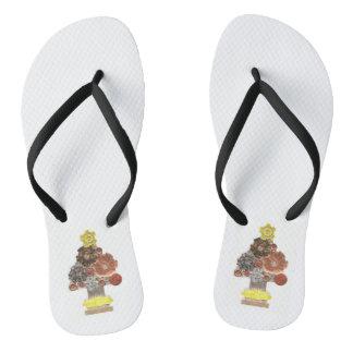 Sandals van de Vrouwen van de Kerstboom van Teenslippers