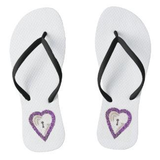 Sandals van de Vrouwen van het Hart van de kast Teenslippers