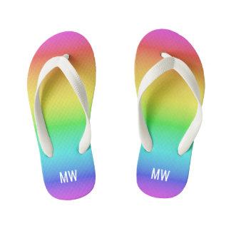 Sandals van het de douanemonogram van de Gradiënt Kinder Teenslippers