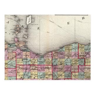 Sandusky, Seneca, en de Provincies van de Top Briefkaart