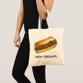 Sandwich van Po'Boy van de Oester van New Orleans Draagtas