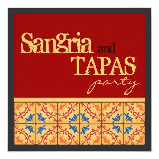 Sangria & Partij Tapas! De gelukkige Uitnodiging