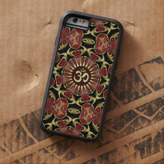 Sanscritisch Om Goud + Rode Barokke iPhone 6 Tough Xtreme iPhone 6 Hoesje