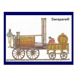 Sanspareill, vroege stoomtrein briefkaart