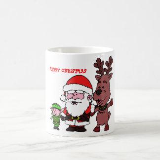 Santa Claus and Reindeer Koffiemok